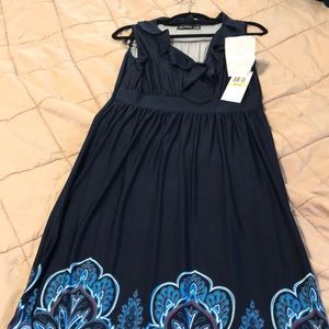 Blue/red multi color Maxi dress